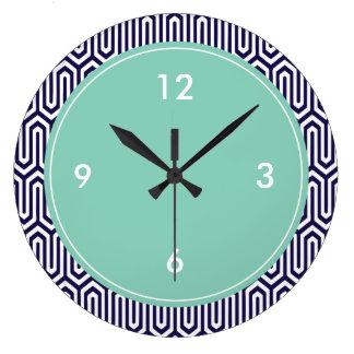 Grand motif décoratif d'abrégé sur horloge murale