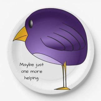 Grand oiseau pourpre : Peut-être juste un plus Assiettes En Papier