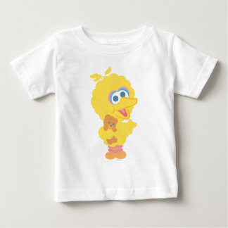 Grand oiseau tenant l'ours de nounours t-shirt pour bébé