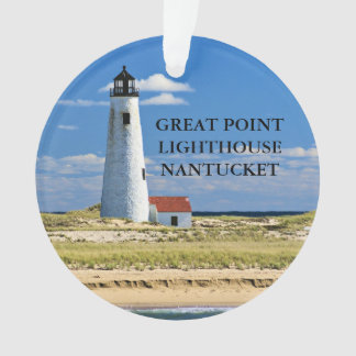 Grand ornement de Nantucket mA de phare de point