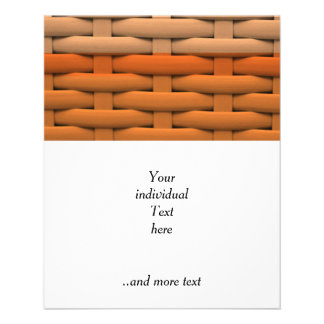 grand panier tressé, rayures oranges prospectus 11,4 cm x 14,2 cm