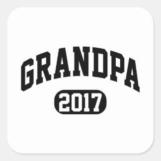 Grand-papa 2017 sticker carré