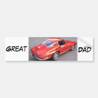 Grand papa de fête des pères autocollant de voiture