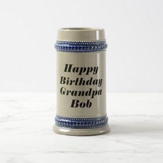 Grand-papa de joyeux anniversaire personnalisé - chope à bière