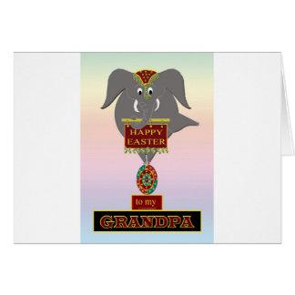 GRAND-PAPA de Pâques d'éléphant Carte De Vœux