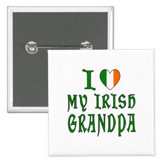 Grand-papa d'Irlandais d'amour Pin's