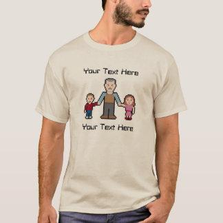 Grand-papa fait sur commande de pixel des textes t-shirt