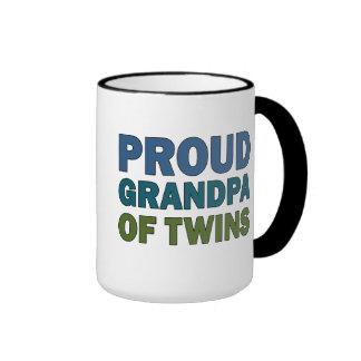 Grand-papa fier des jumeaux mug ringer