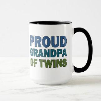 Grand-papa fier des jumeaux tasse