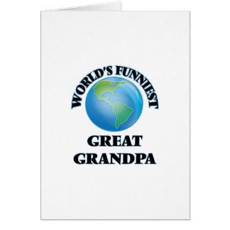 Grand-papa le plus drôle du monde le grand carte de vœux
