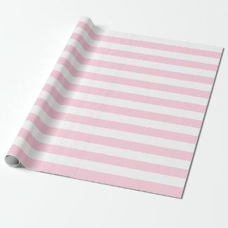 Grand papier d'emballage de rayures rose-clair et papier cadeau noël