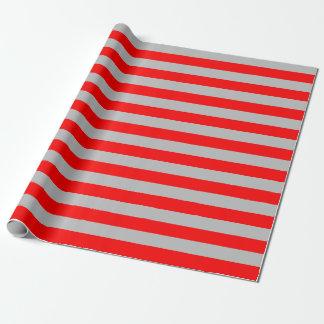 Grand papier d'emballage de rayures rouges et papier cadeau