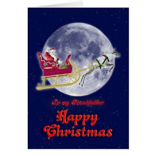 Grand-père de Joyeux Noël, père Noël dans son Cartes De Vœux