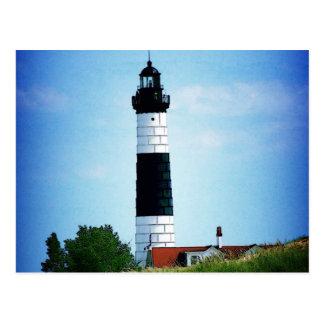 Grand phare de point de sable carte postale