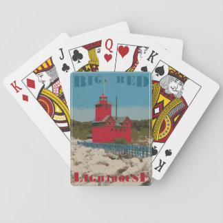 Grand phare rouge jeu de cartes