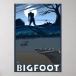 Grand pied marchant par le terrain de golf poster