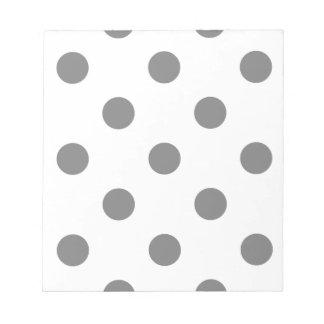 Grand pois - gris sur le blanc bloc-note
