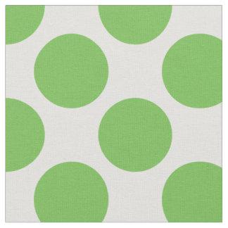 Grand pois vert clair et blanc moderne tissu