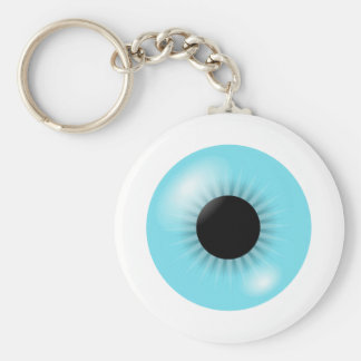 Grand porte - clé bleu de globe oculaire porte-clé rond