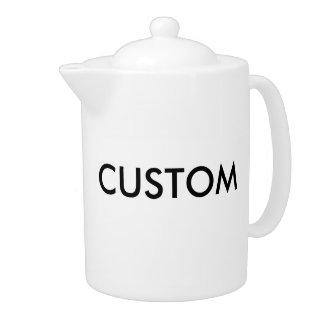 Grand pot du thé 44oz de porcelaine blanche faite