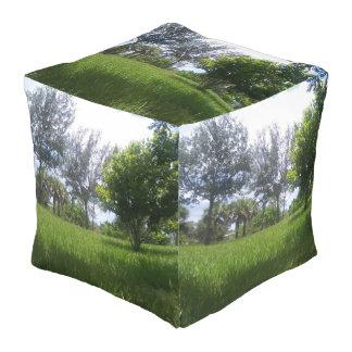 Grand pouf de cube de parc naturel en conception