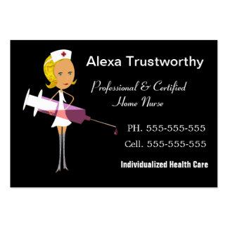 Grand professionnel d'infirmière privée carte de visite grand format