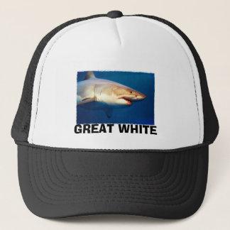 Grand requin blanc casquette
