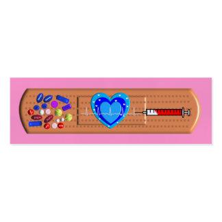 Grand rose Bandaid de cartes de visite médicaux Cartes De Visite Personnelles