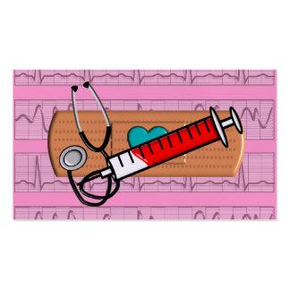 Grand rose Bandaid II de cartes de visite médicaux Carte De Visite