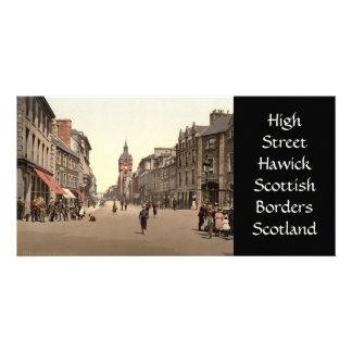 Grand-rue, Hawick, frontières écossaises, Ecosse Photocarte Customisée