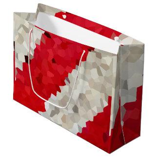 Grand Sac Cadeau Abrégé sur rouge et blanc vacances de sucre de