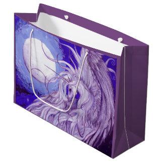 Grand Sac Cadeau Animaux magiques de lune de licorne
