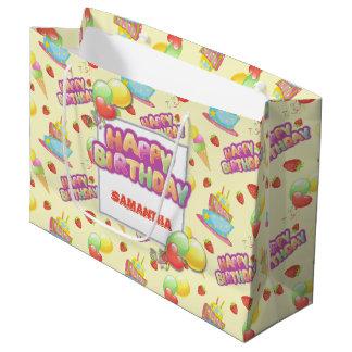 Grand Sac Cadeau Anniversaire coloré de bonbons