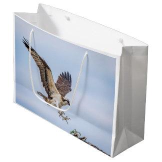Grand Sac Cadeau Atterrissage de balbuzard dans le nid