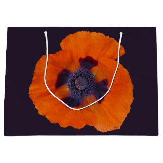 Grand Sac Cadeau Atterrisseur orange du pavot 1 d'écarlate