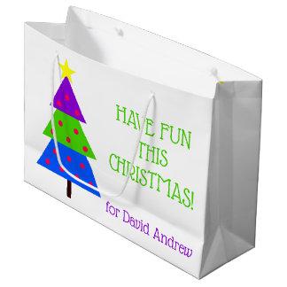 Grand Sac Cadeau Ayez l'amusement que cet arbre de Noël a