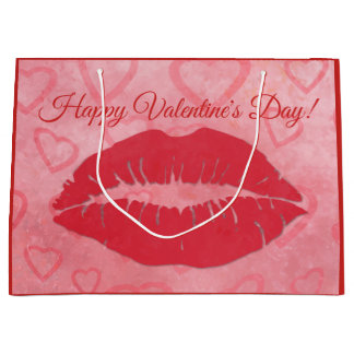 Grand Sac Cadeau Baiser de heureuse Sainte-Valentin