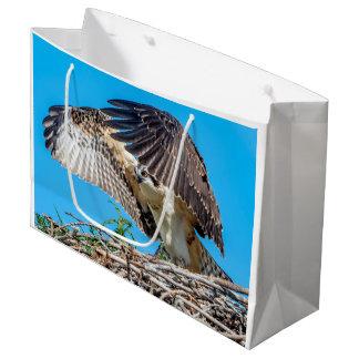Grand Sac Cadeau Balbuzard juvénile dans le nid