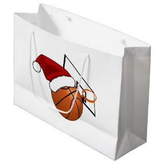 Grand Sac Cadeau Basket-ball et cercle de Noël