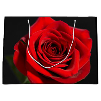 Grand Sac Cadeau Beau rose rouge