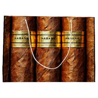 Grand Sac Cadeau Cadeau cubain de luxe de Clube de fumée de cigares