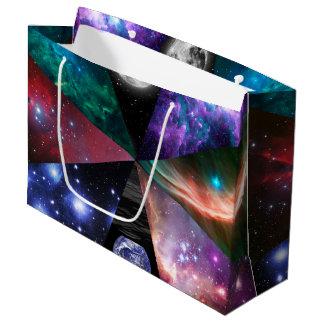Grand Sac Cadeau Collage d'astronomie