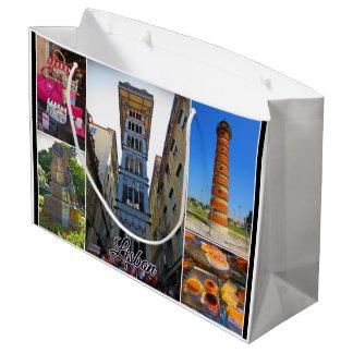 Grand Sac Cadeau Collection de voyage de Lisbonne - ascenseur de