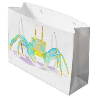 Grand Sac Cadeau Crabe de turquoise