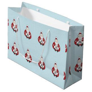 Grand Sac Cadeau Dessin potelé mignon de père Noël