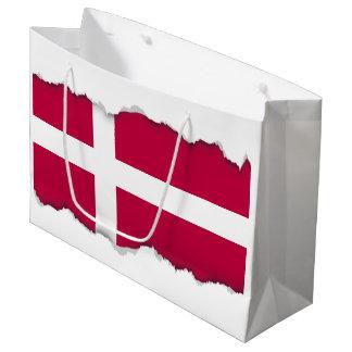 Grand Sac Cadeau Drapeau du Danemark