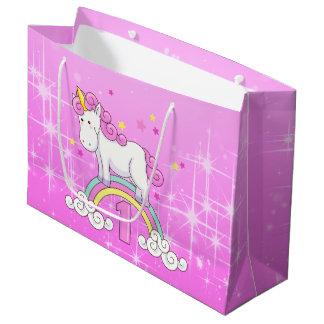 Grand Sac Cadeau Ęr anniversaire de licorne