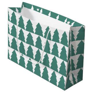 Grand Sac Cadeau Forêt d'arbre de Noël