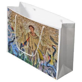 Grand Sac Cadeau Francis de mosaïque d'Assisi