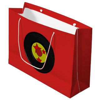 Grand Sac Cadeau Grand, disque de vinyle